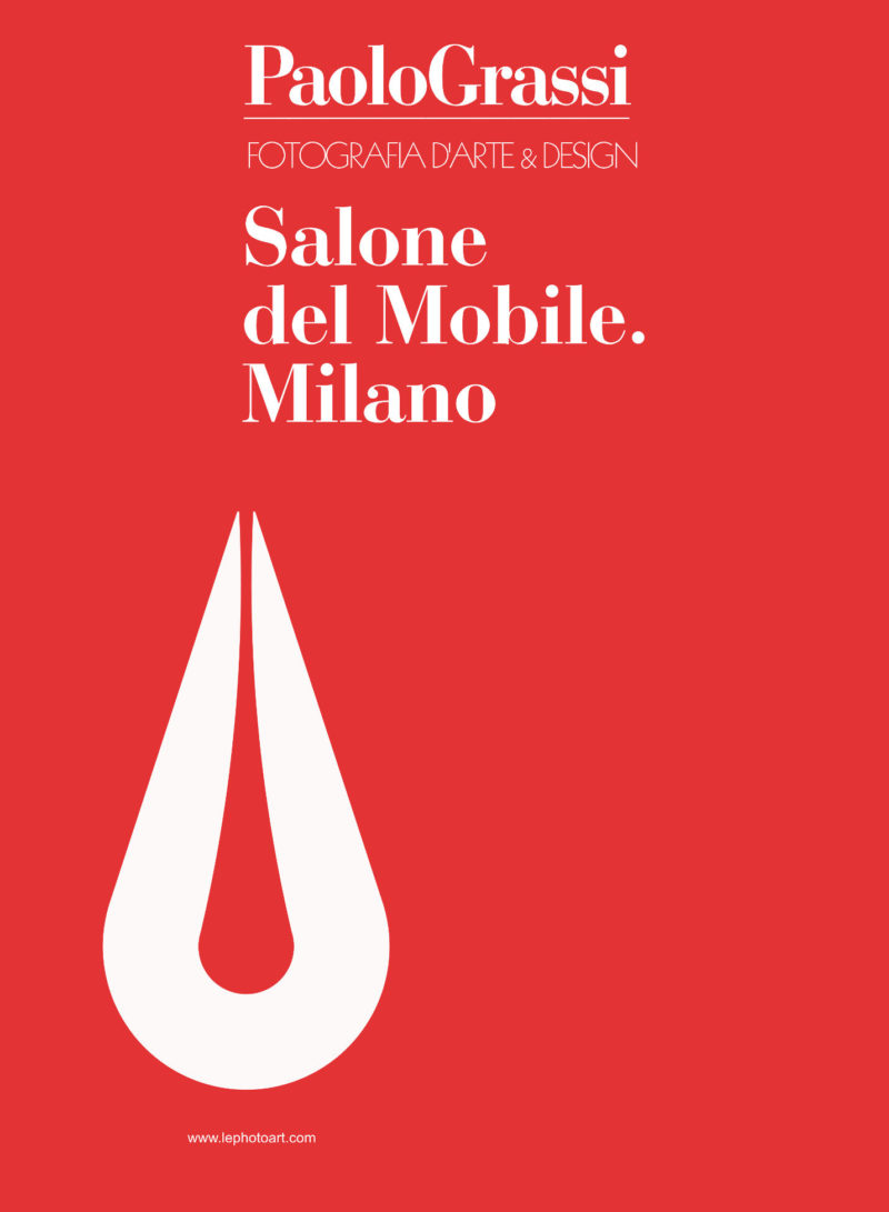 Salone del Mobile 2018 Copertina del catalogo fotografie d'arte Paolo Grassi