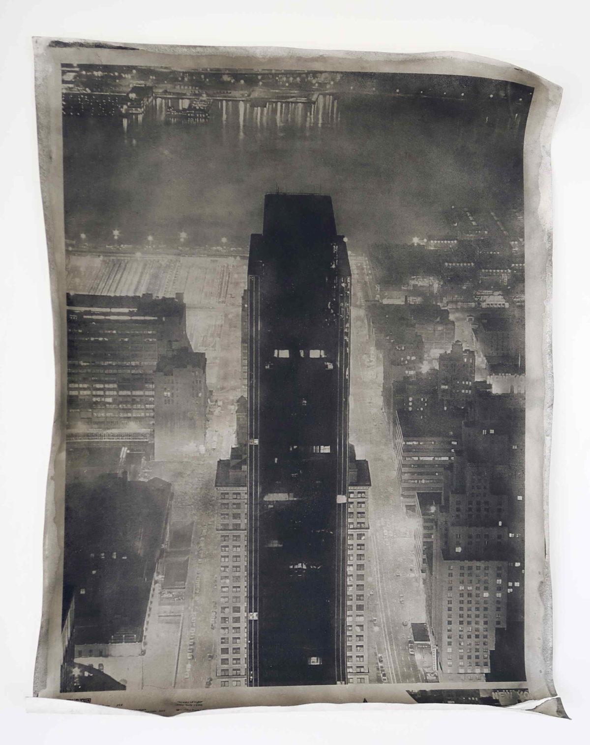 Foto d'arte bianconero. New_York. View from Empire State Building. Foto d'arte bianconero