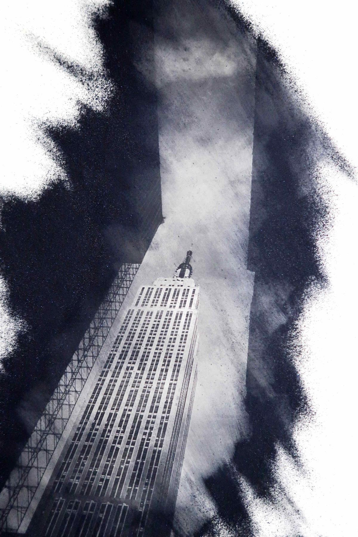 Art photo New York. Empire state building. Performance fotografica di stampa manuale