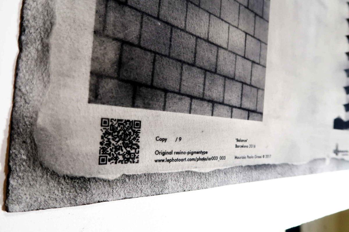 Photo art Barcelona. Frank Gehry building. Detail QR Code