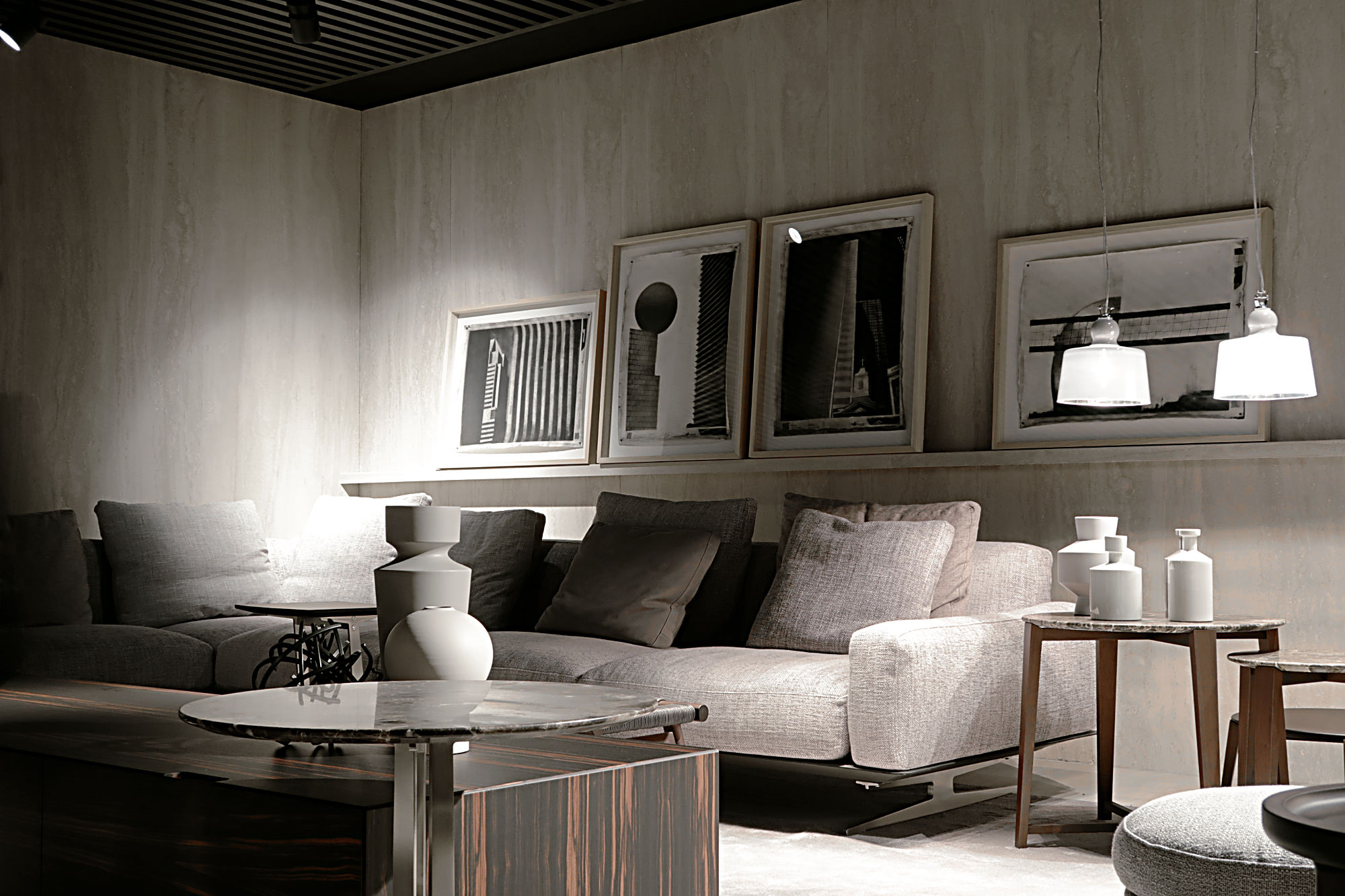 Art for rent. Interior design